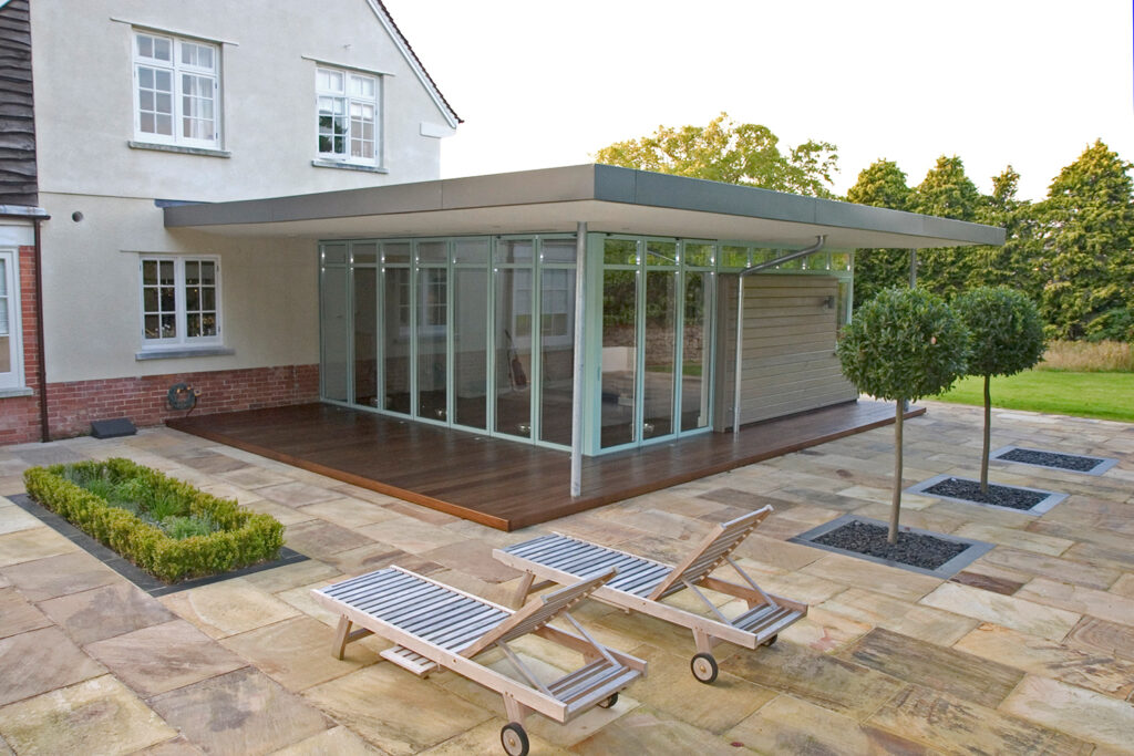 Home improvements by adding an extension